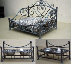 Wrought iron Dog House Bed, Dog Bed, Dog Kennel And Run, Metal Furniture, Pet Beds, Wrought Iron, Sweet Home, Pets, Interior