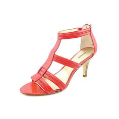 Alfani Delia Women Open Toe Leather Red Sandals *** Want to know more, click on the image.
