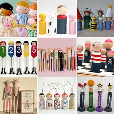 25 inspiration clothes pin dolls. I like the 1920's bathing beauties (from Sophie Tilley Designs http://www.sophietilleydesigns.com/blogs/news) ...