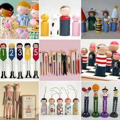 25 clothespin dolls and tutorials @Aliscia Ferlito-Krecisz Ferlito-Krecisz Donahue.....do you remember doing these with our moms?