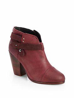 Rag & Bone Harrow Two-Tone Leather Ankle Boots (saksfifthavenue.com)