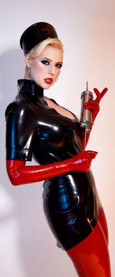 Mature fetish rubber harmless dress