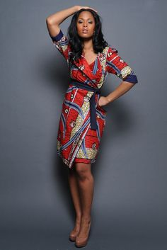 Ankara wrap dress: