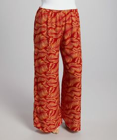 This Rust Swirl Palazzo Pants - Plus by Yummy is perfect! #zulilyfinds