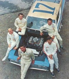Ford Torino, 429, and the 1969 Ford Factory drivers; Richard Petty (Petty Enterprises), Cale Yarborough (Wood Brothers), David Pearson (Holman-Moody), Donnie Allison (Banjo Matthews), & Lee Roy Yarbrough (Junior Johnson.)