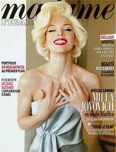 Milla Jovovich channels Marilyn Monroe for Madame Figaro