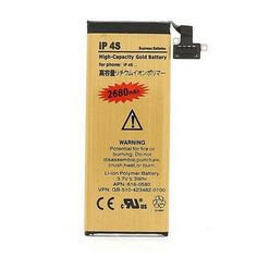 Genuine Original High Capacity 2680MAH Li-ion Gold Replacement Battery for iPhone 4S internal Batteries with 7 in1 Repair Tools