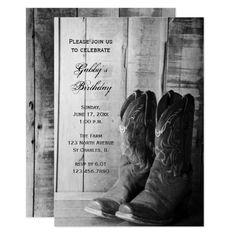 Redneck Birthday Party Invitations