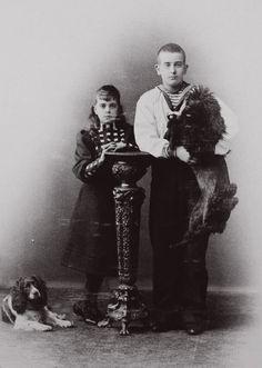 Grand Duke Boris Vladimirovich Romanov of Russia with his sister Grand Duchess Elena Vladimirovna Romanova of Russia.A♥W