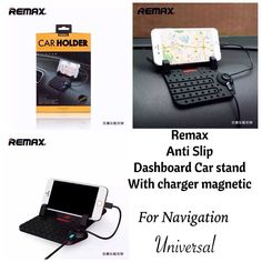 Universal Remax Car Charging Phone Holder auto adjustable bracket anti-slip mat car mount GPS stand 2 in 1 USB cable charger Rs.1,090(64%) Save ,Click here to buy:http://goo.gl/kLg7o6