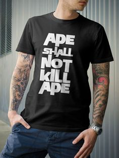 Dawn of The Planet Apes Quote Ape Shall Not Kill Ape by 21street, $16.99