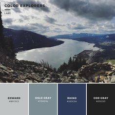 Lake #colorpalette #color #colorexplorers #lake #colour #inspo