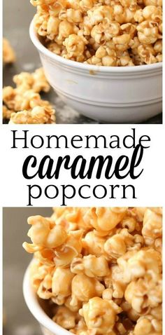 Homemade Caramel Popcorn Recipe – Six Sisters' Stuff Popcorn Mix, Microwave Popcorn, Popcorn Balls, Appetizer Recipes, Snack Recipes, Cooking Recipes, Appetizers, Budget Recipes, Cake Recipes