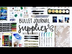 My Bullet Journaling Supplies 💕 - YouTube
