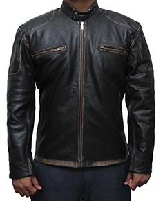 Captain America Civil War Steve Rogers Brown Leather Jacket at Amazon Men's Clothing store: