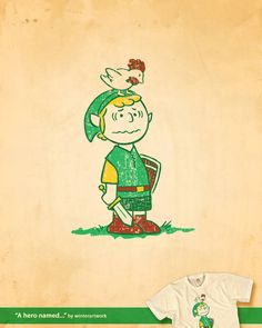 Awww!!! Charlie Brown as Link. <3 I wonder if Zelda is The Little Red-Haired Girl.