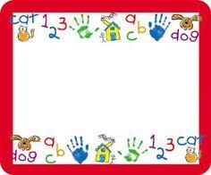 Name Tags Kid-Drawn Art 40/pk Self-Adhesive | SS-4381 | CD-9414