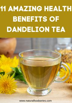 Dandelion Tea health benefits includes strengthening the bones, detoxifying the body, promoting weight loss, preventing chronic diseases, promoting blood circulation. Health And Nutrition, Health And Wellness, Dandelion Benefits, Holistic Nutritionist, Fun Recipes, Herbal Medicine, Organic Recipes, Health Benefits, Herbalism
