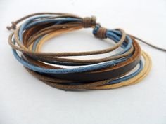 Cuff Bracelet Made With Leather and Ropes 49A by accessory365, $3.00