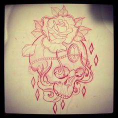 #drawing #tattoo #skull