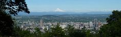 View of Portland from the Pittock Mansion.