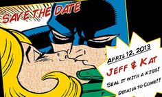 Hey, I found this really awesome Etsy listing at https://www.etsy.com/listing/185558697/save-the-date-batman-comic-book-save-the