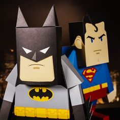 Superhero Paper Toys from Firebox.com