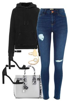 """Untitled #3403"" by dkfashion-658 ❤ liked on Polyvore featuring adidas Originals, Yves Saint Laurent and Amorium"