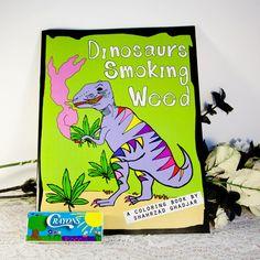 Dinosaurier-Rauchen Weed Erwachsene Malbuch mit von spooksvilla