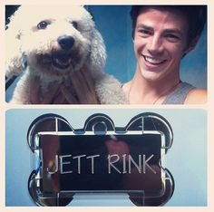 Grant Gustin with Jett :)