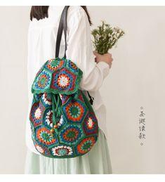 # Bag # weave # Backpack # Made Knitting Backpack Make … – Bags Crochet Handbags, Crochet Bags, Knit Crochet, Tapestry Bag, Latest Street Fashion, Crochet For Kids, Handmade Bags, Vera Bradley Backpack, Bag Making