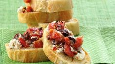 Organic tomatoes, goat cheese and fresh thyme are the signature flavors of a classic Italian appetizer.
