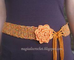 Modelos Diferentes de Cintos em Crochê | Maraca Crochet