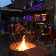 Very cosy bar behind the train tracks of St. Very nice sunset. Train Tracks, Basel, Cosy, The Good Place, Sunset, Concert, Nice, Outdoor Decor, Concerts