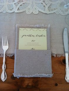 linen napkin + personalized menu | Ritzy Bee Events | SIMPLESONG design | Neither Snow Calligraphy | A Bryan Photo