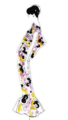 Fashion Drawing - Bobby Hillson
