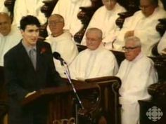 Justin Trudeau delivers the eulogy at his father Pierre Trudeau's funeral. From the CBC Digital Archives | #Cdnpoli