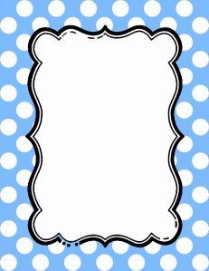 Free Polka Dot Border Templates in 16 Colors Printable Border, Printable Frames, Templates Printable Free, Borders For Paper, Borders And Frames, Polka Dot Paper, Blue Polka Dots, Page Borders Free, Polka Dot Labels