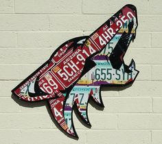 Phoenix Coyotes made from expired license plates