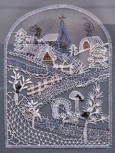 Crochet Edging Patterns, Bobbin Lace Patterns, Lace Embroidery, Embroidery Patterns, Pin Weaving, Bobbin Lacemaking, Lace Art, Point Lace, Needle Lace