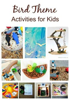Bird Theme Activities for Kids. Perfect for a bird theme for preschool and early elementary kids Nature Activities, Spring Activities, Learning Activities, Activities For Kids, Animal Activities, Animal Themes, Preschool Learning, Toddler Crafts, Crafts For Kids
