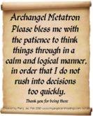 ARCHANGEL METATRON~PRAYER