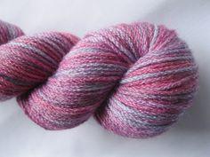 "DK Wool and Bamboo Yarn ""Pink Bamboo"" - Hand Dyed DK Yarn, Bamboo Yarn, Hand Dyed Yarn in purple, pink, lilac - superwash yarn, 218 yards"