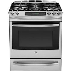 GE Profile 5.6 cu. ft. Slide-In Gas Range with Self-Cleaning Convection Oven in Stainless Steel-PGS920SEFSS - The Home Depot