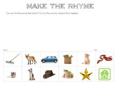 Free Make a Rhyme printable   you clever monkey