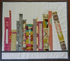 Mini Bookshelf – Free Wall Quilt Tutorial & Pattern by Elizabeth Dackson