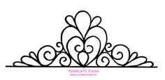 Resultado de imagen para princess tiara template printable