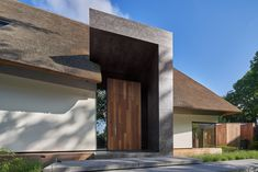 Villa Design, Modern House Design, House Styles, Wood, Outdoor Decor, Home Decor, Barn Houses, House Ideas, Terrace