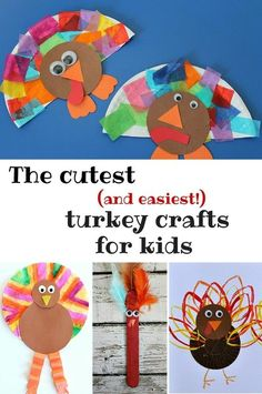 Toddlers and preschoolers will love these super-cute and easy turkey crafts just right for Thanksgiving!