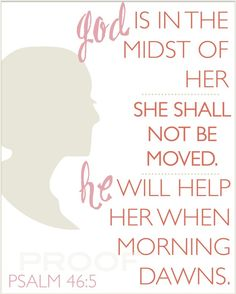 This would rock with a silhouette of my girls on the side!- psalm 46:5